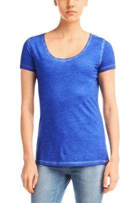 T-Shirt ´Tahiras` aus Baumwolle, Blau