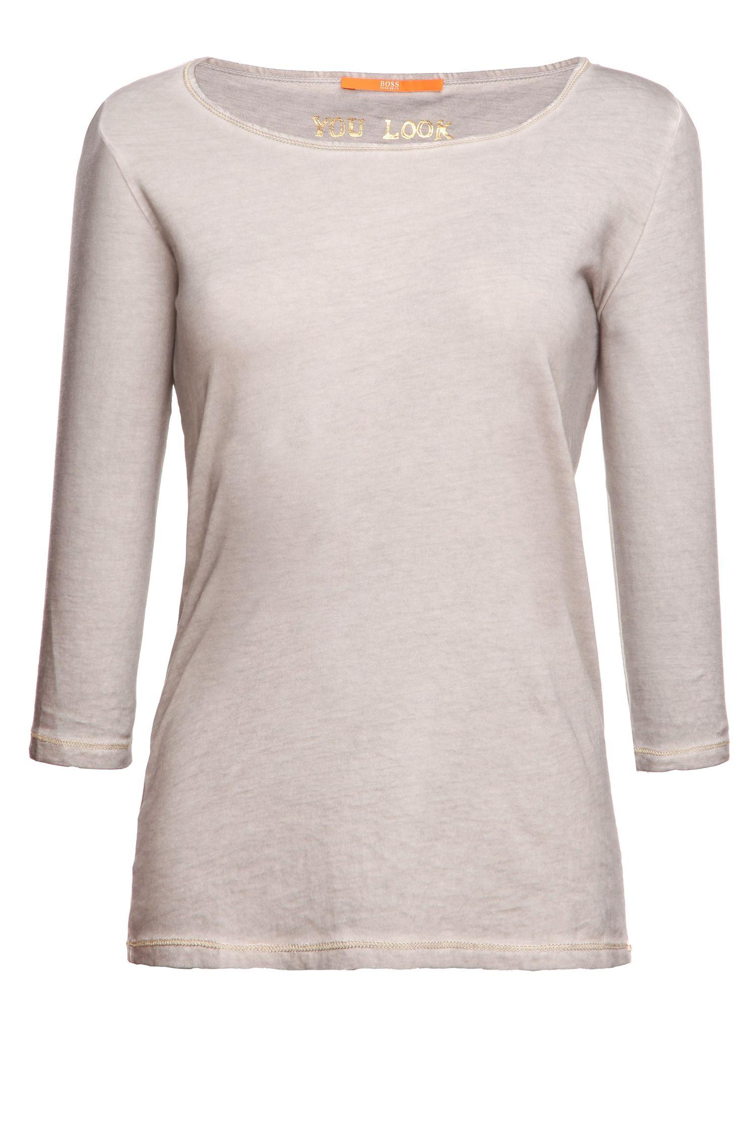 T-shirt 'Tasfias' van katoen