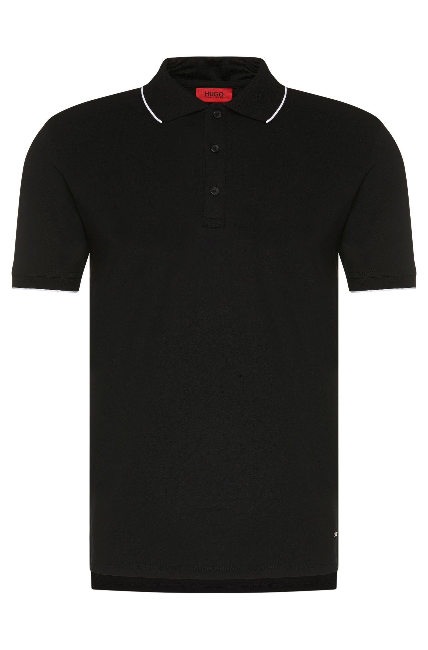 Polo Regular Fit en coton stretch: «Delorian»