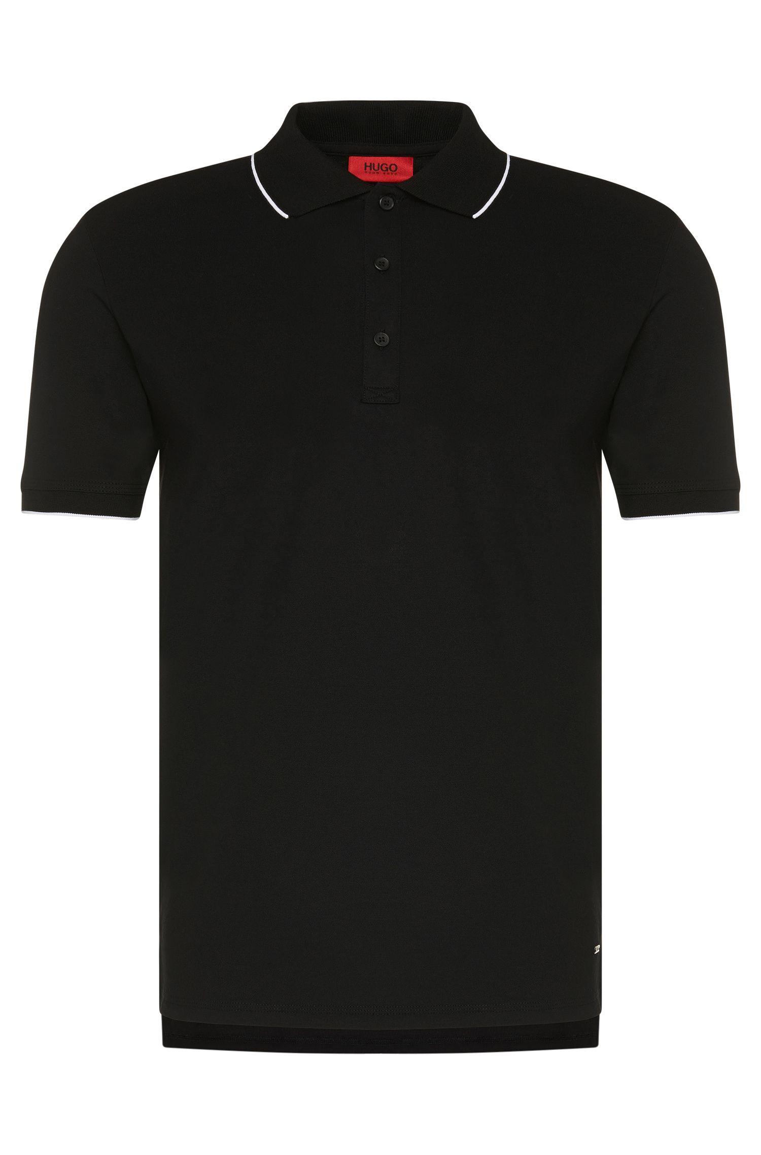 Regular-fit poloshirt van stretchkatoen: 'Delorian'