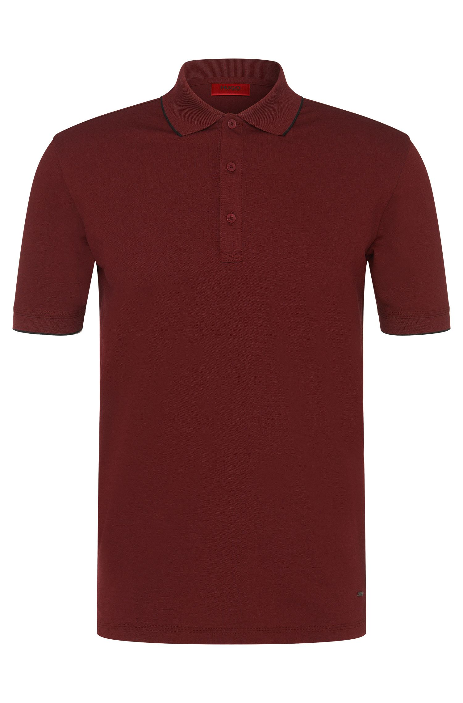 Regular-fit polo shirt in stretch cotton: 'Delorian'
