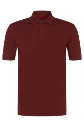 Regular-Fit Poloshirt aus Stretch-Baumwolle: 'Delorian', Dunkelrot
