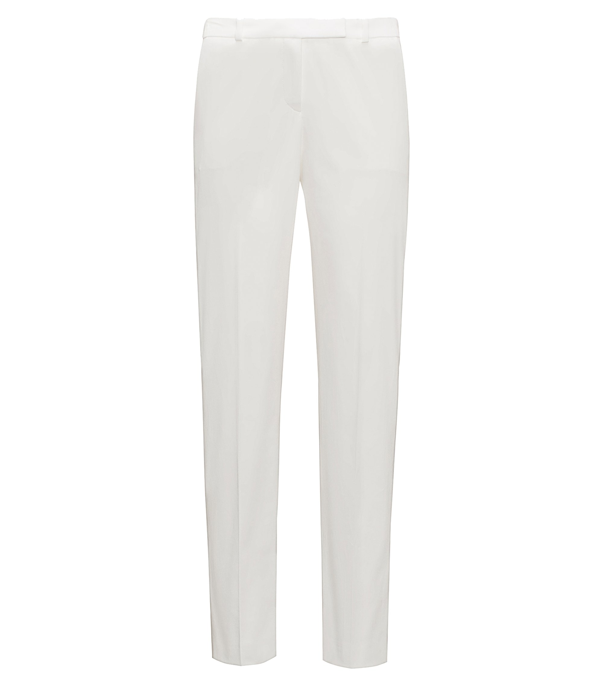 Stretch-cotton trousers in a regular fit, Natural