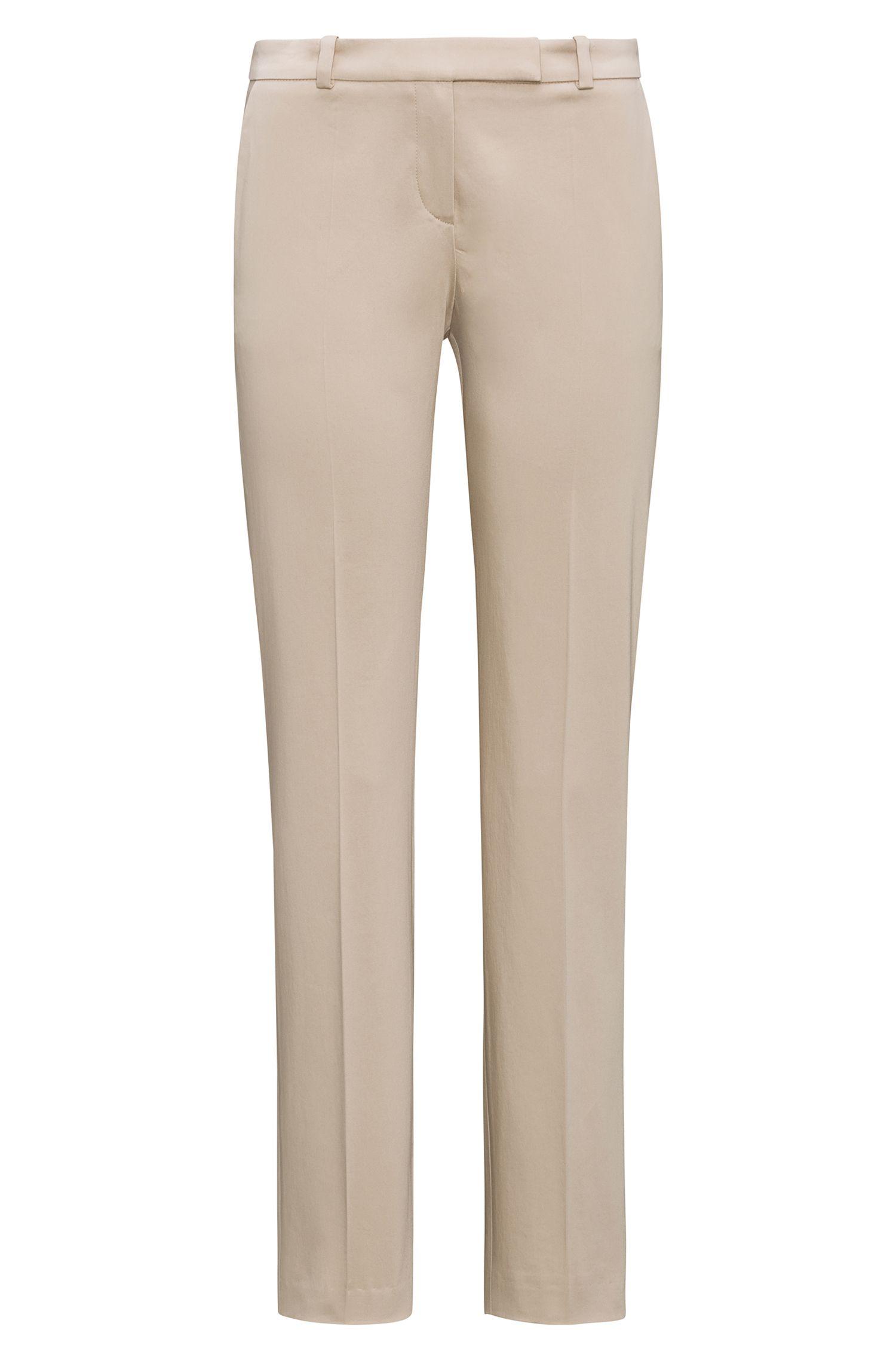Regular-fit broek van stretchkatoen