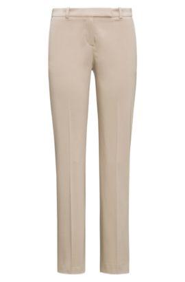Pantalón slim fit en algodón elástico: 'Harile-3', Beige