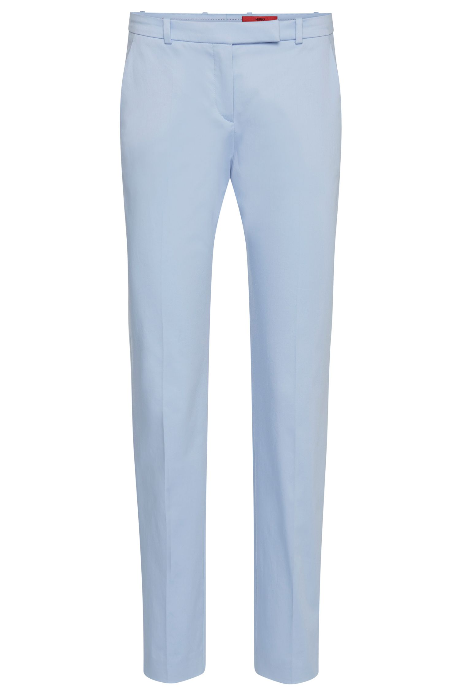 Slim-fit trousers in stretch cotton: 'Harile-3'