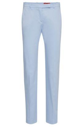 Pantalón slim fit en algodón elástico: 'Harile-3', Celeste
