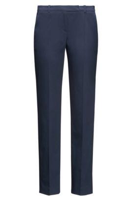 Pantalón slim fit en algodón elástico: 'Harile-3', Azul oscuro