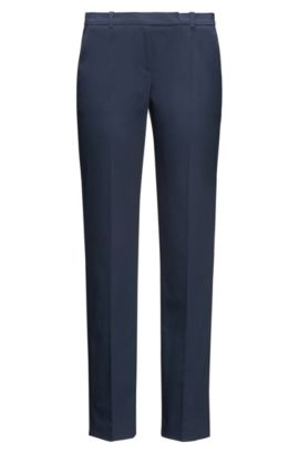 Pantalon Slim Fit en coton stretch : « Harile-3 », Bleu foncé