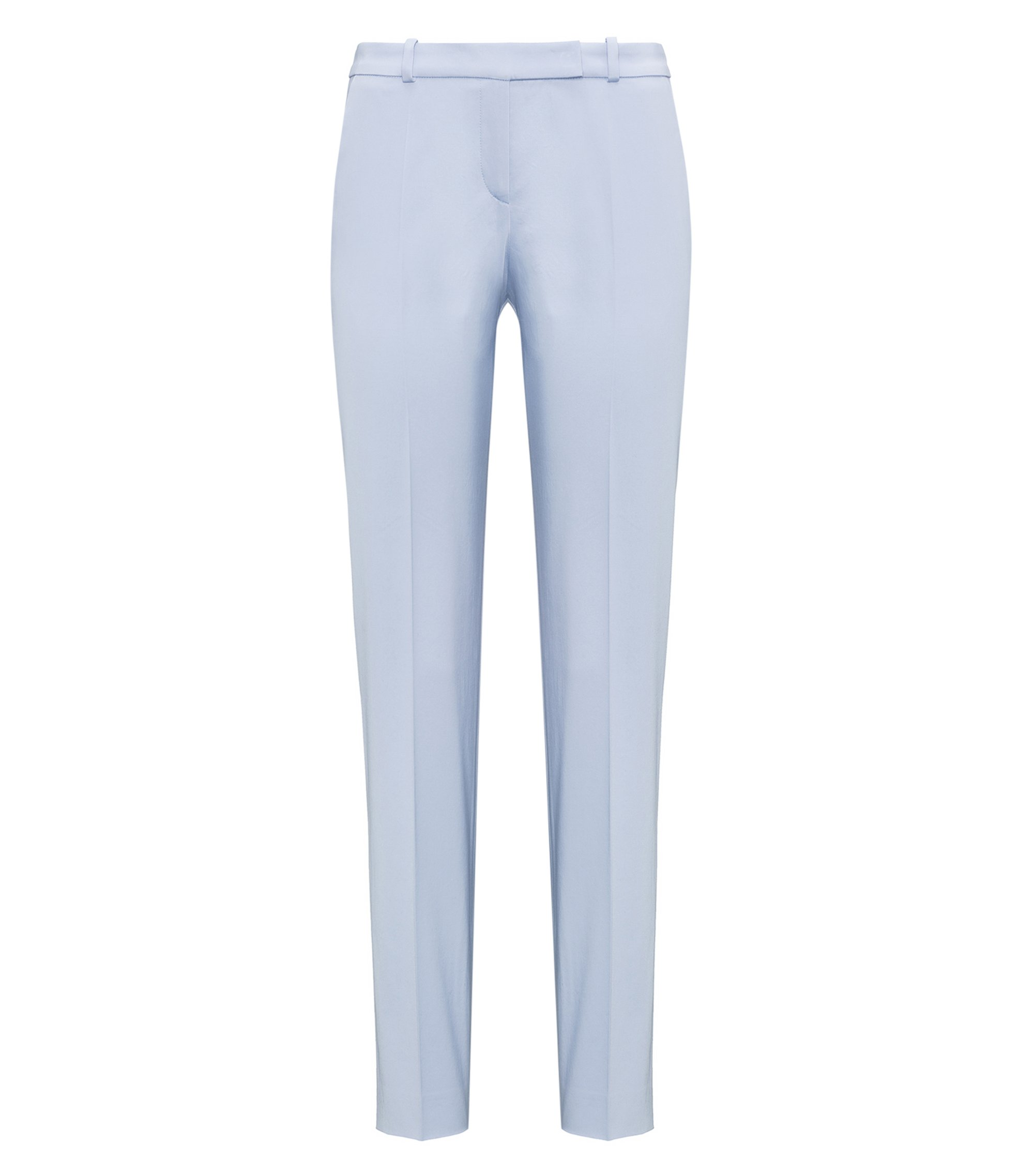 Stretch-cotton trousers in a regular fit, Light Blue