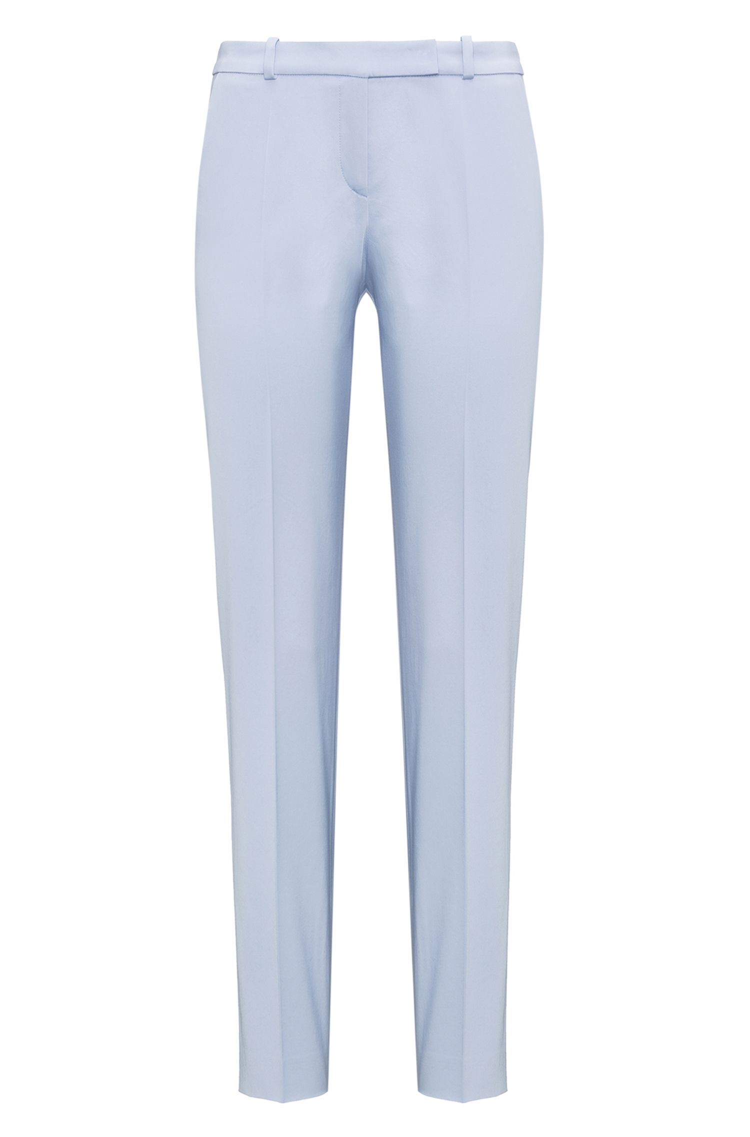 Stretch-cotton trousers in a regular fit