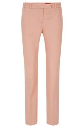 Pantalón slim fit en algodón elástico: 'Harile-3', Rojo claro