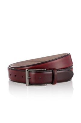 Belt in smooth leather: 'Lavior', Dark Red