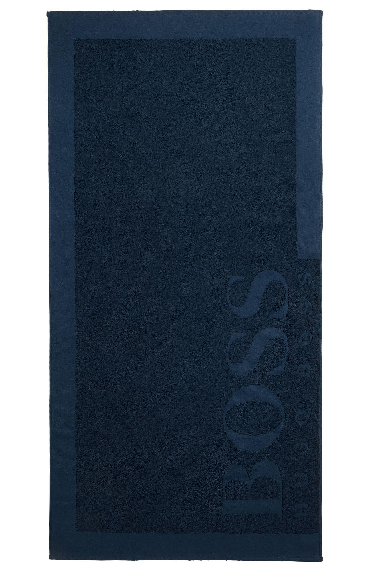 Badetuch aus softem Baumwoll-Jacquard mit Logo