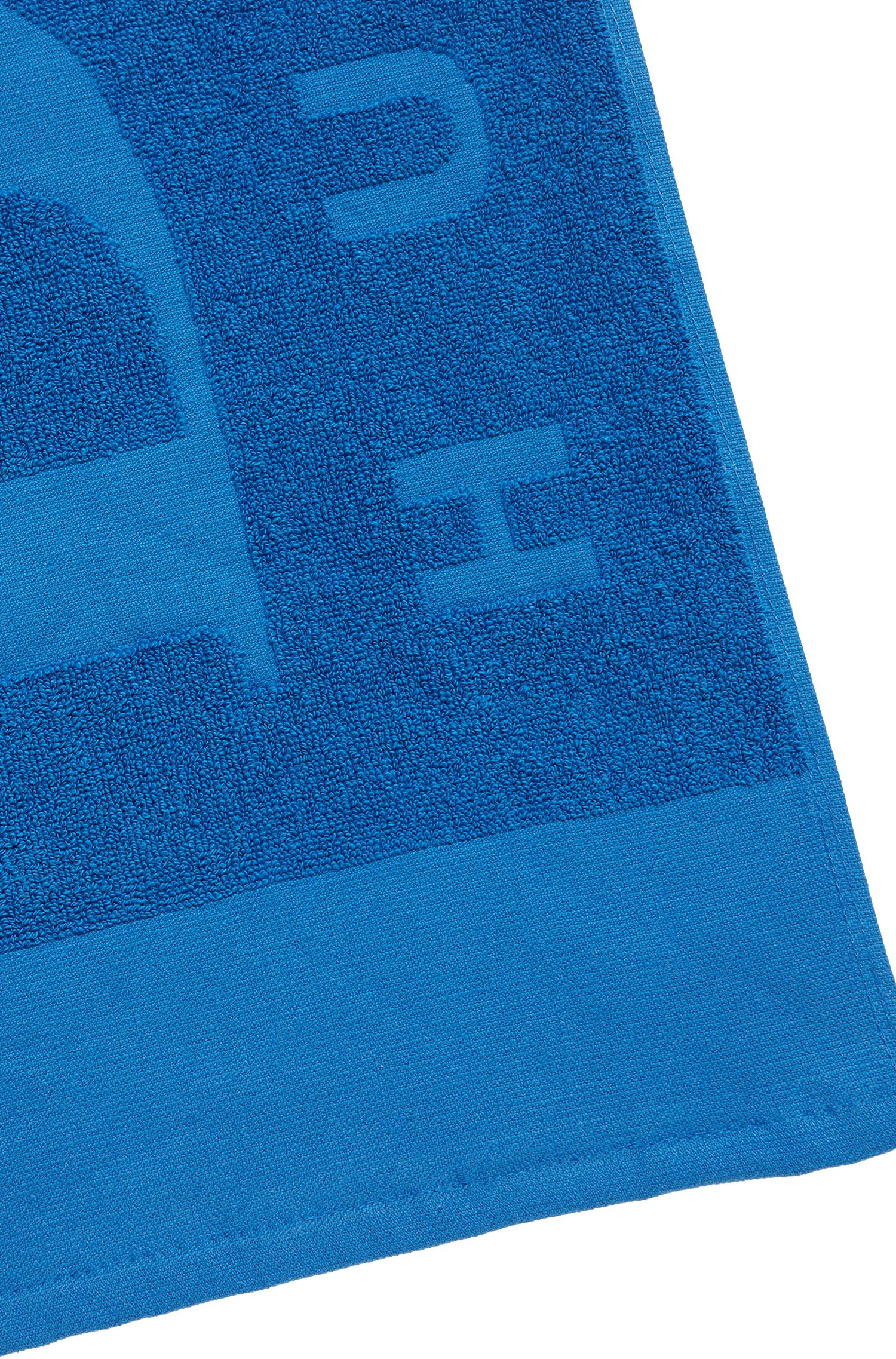 Badetuch aus softem Baumwoll-Jacquard mit Logo, Blau