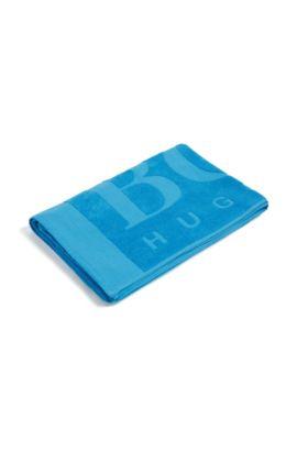 Grande serviette de plage en pur coton: «Beach Towel», Bleu vif