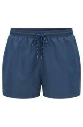 Bañador short en mezcla de materiales de secado rápido: 'Mooneye', Azul oscuro