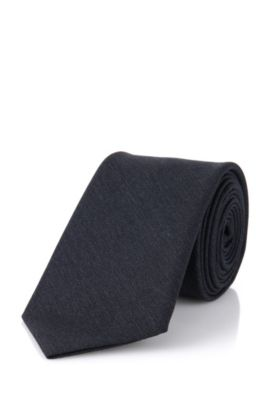 Cravate en laine : « Tie 6 cm self-tipped », Anthracite