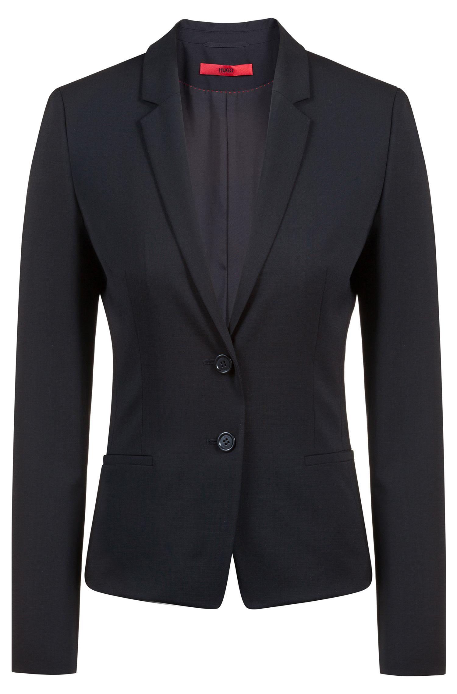 Blazer court Regular Fit, en laine stretch