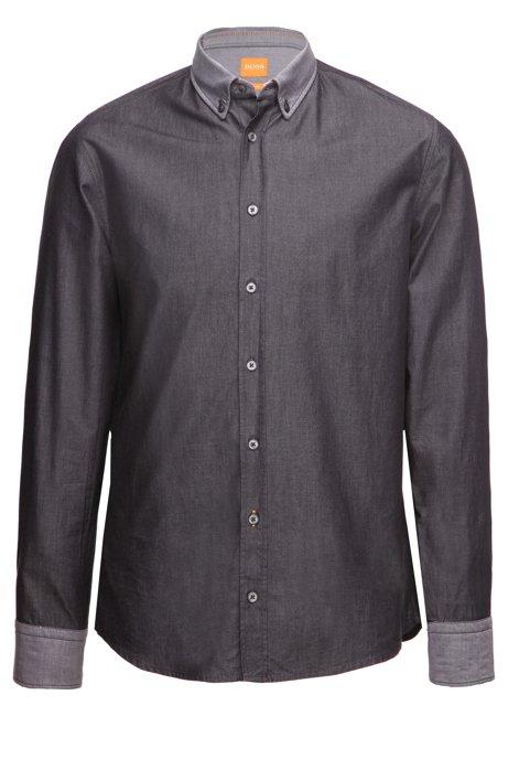 sale retailer e324e 50b4a BOSS - Slim-Fit Hemd mit Kontrast-Kragen und -Manschetten