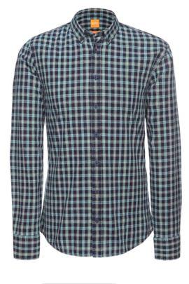 Slim-Fit Hemd ´EdipoE` aus Baumwolle, Dunkelblau