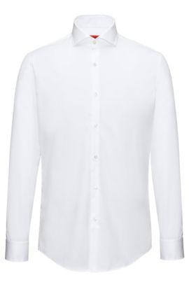 Slim-fit overhemd van katoenen popeline , Wit