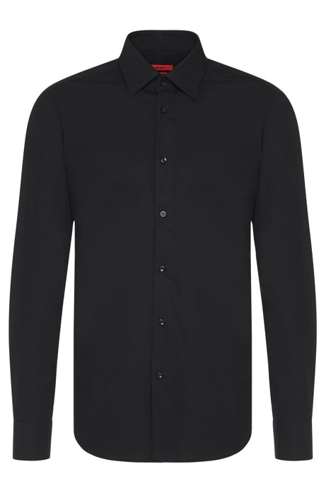 HUGO - Chemise business Regular Fit en popeline de coton ea12630db45c