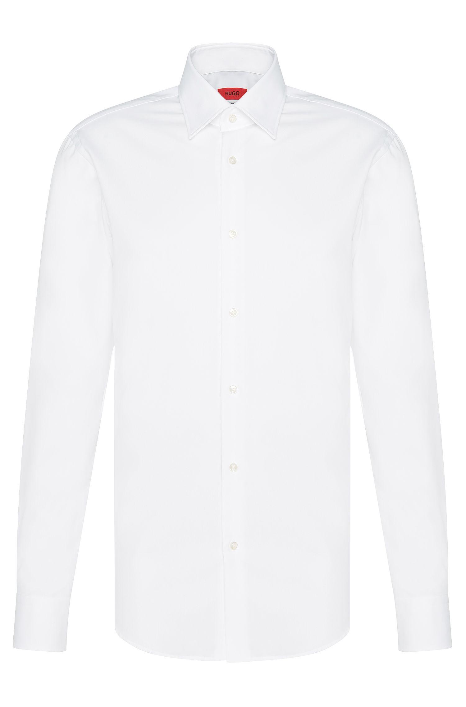 Camisa business regular fit en popelín de algodón