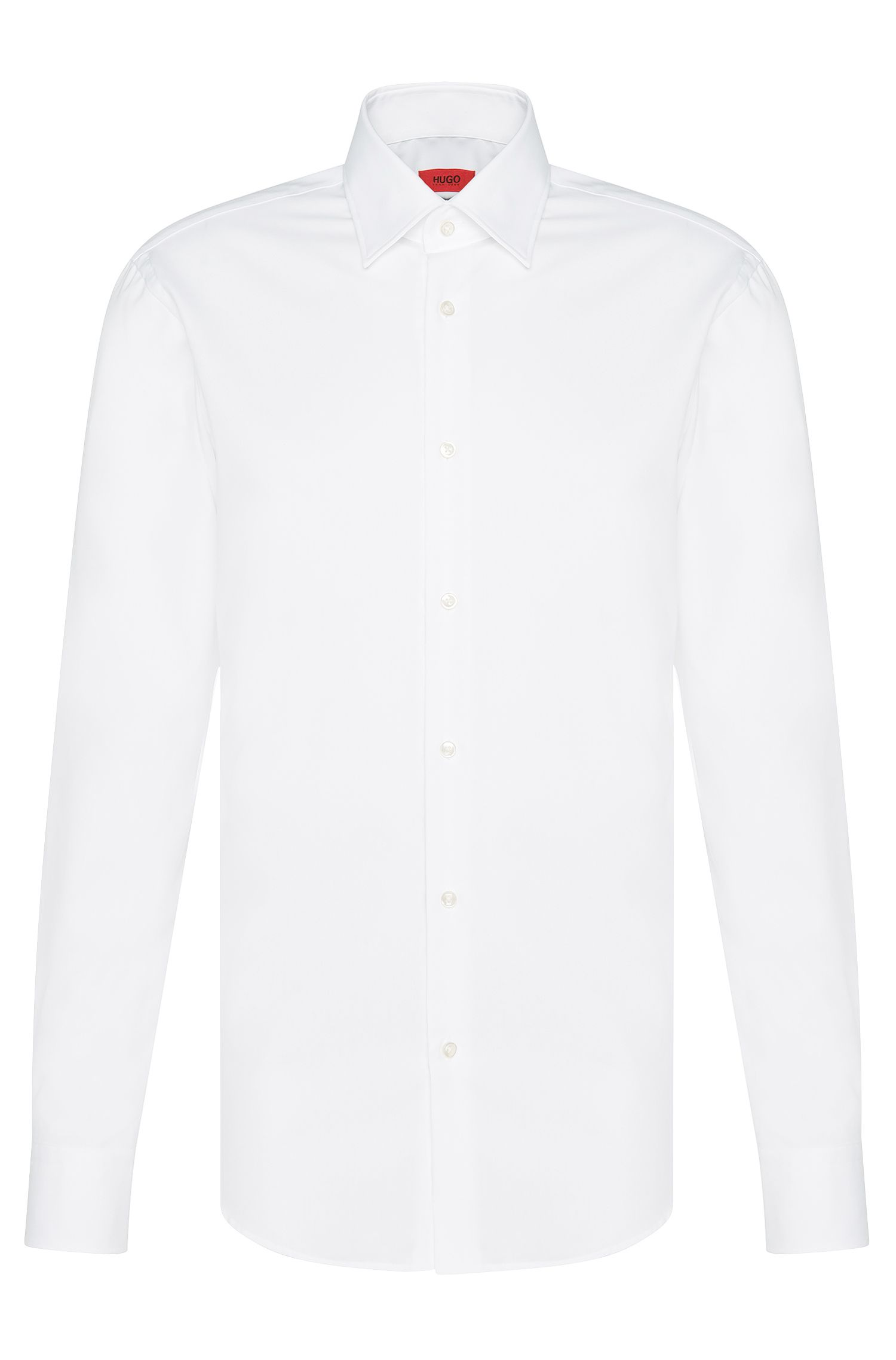 Chemise business Regular Fit en popeline de coton, Blanc