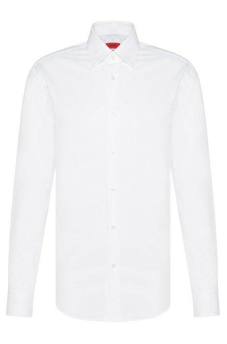 Zakelijk regular-fit overhemd van katoenpopeline, Wit