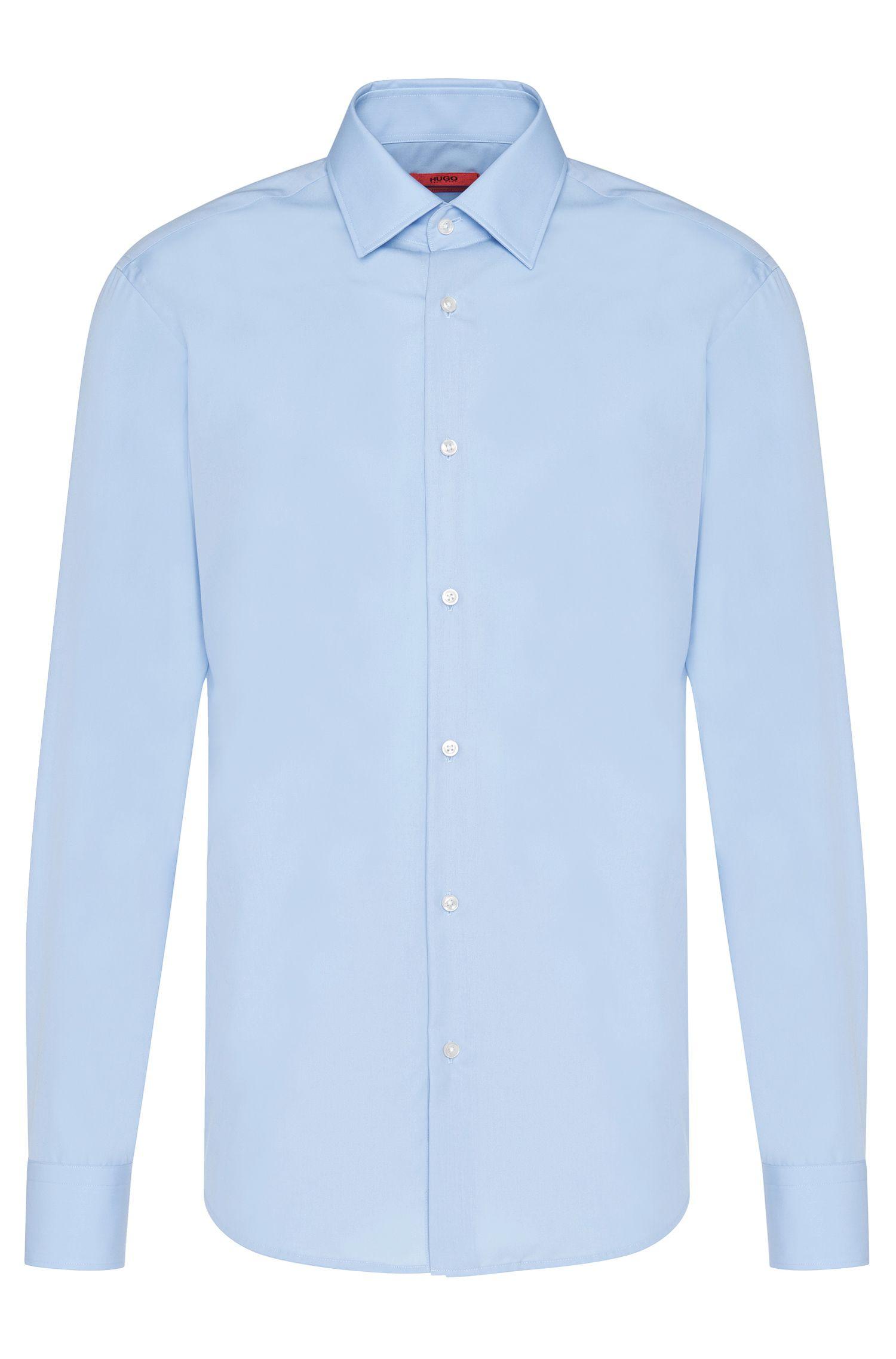 Camicia business regular fit in popeline di cotone