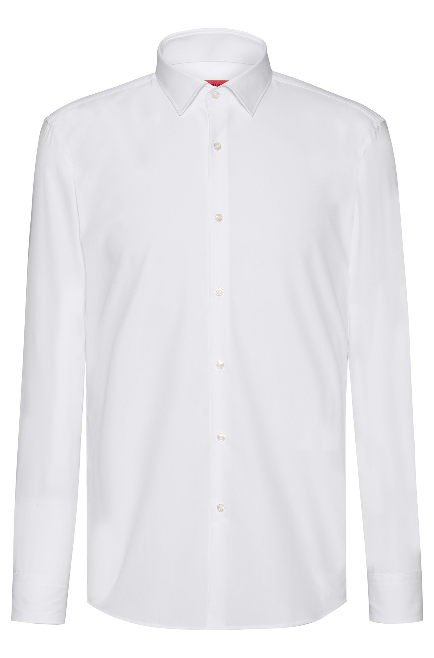 Chemise business Slim Fit en popeline de coton