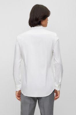 d868d70fc67 Zakelijk slim-fit overhemd van katoenpopeline