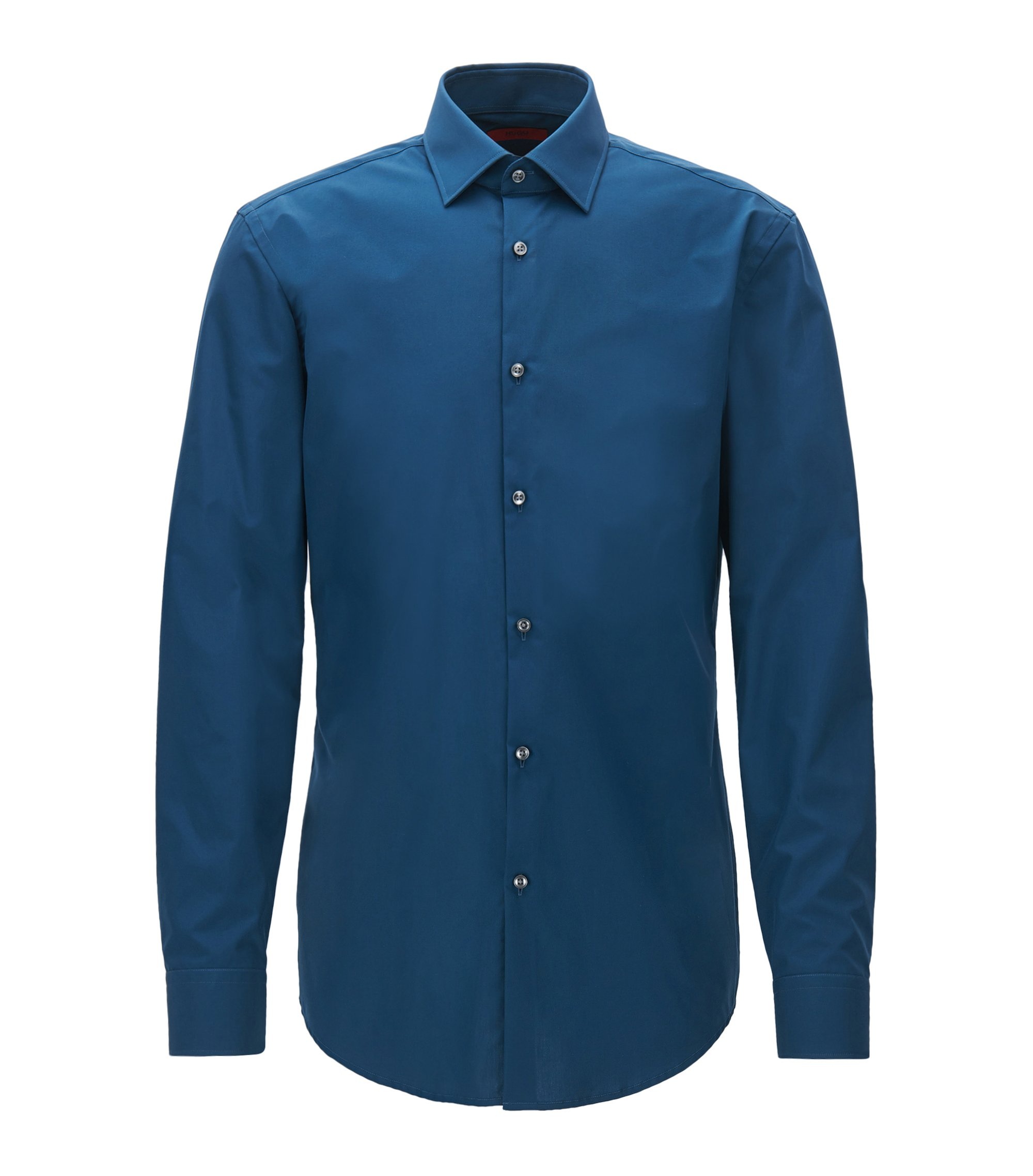 Slim-Fit Hemd aus Baumwolle, Dunkelblau