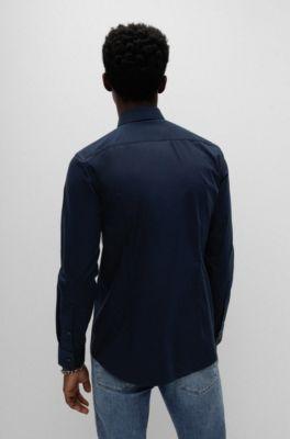 73853da87 Camisa business slim fit en popelín de algodón