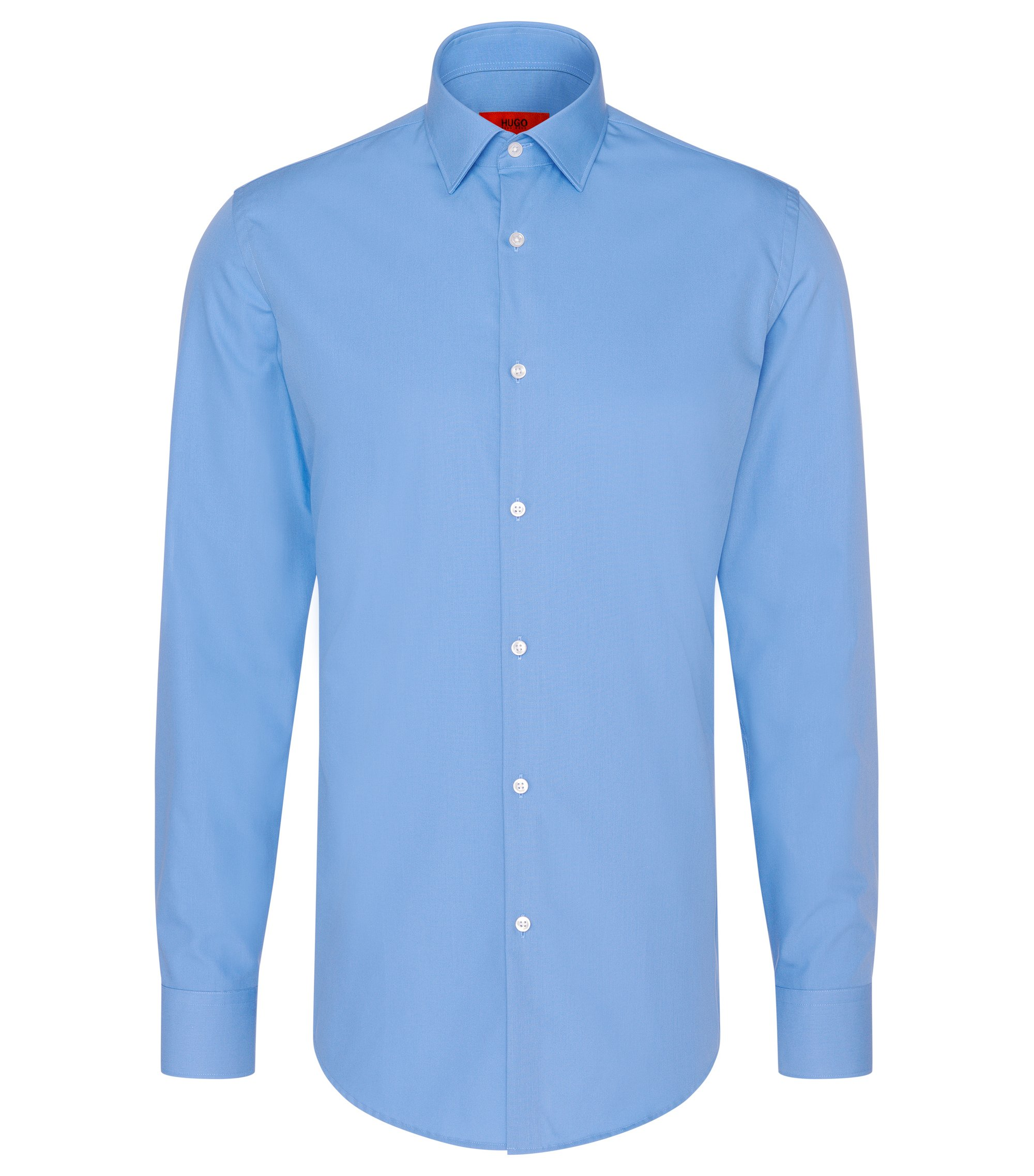 Chemise business Slim Fit en popeline de coton, Bleu vif