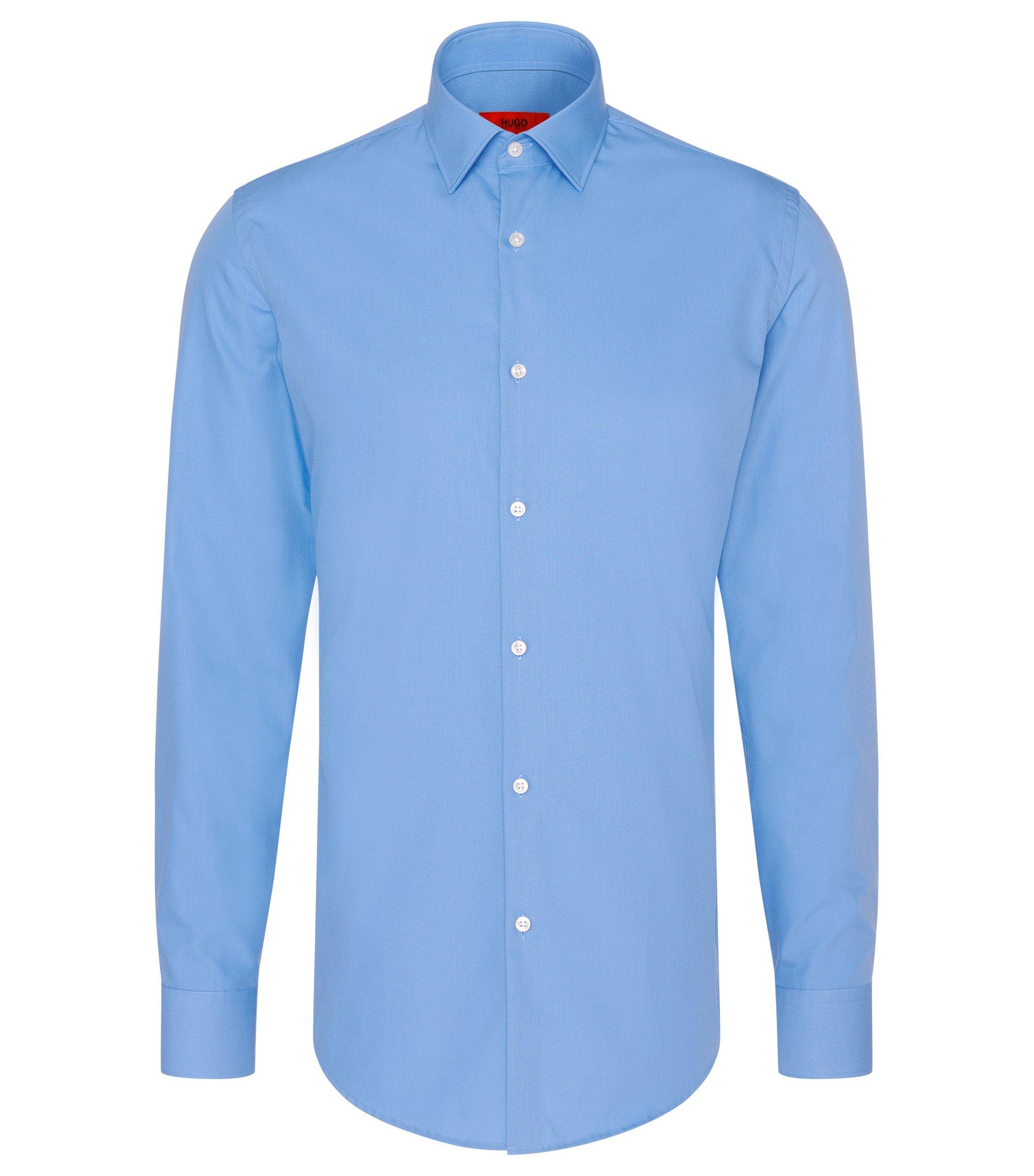 Slim-Fit Hemd aus Baumwolle, Hellblau