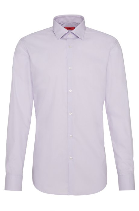 Chemise business Slim Fit en popeline de coton, Violet clair