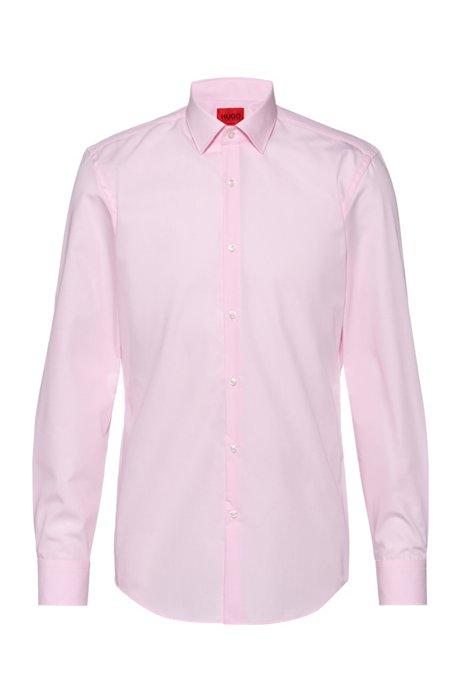 Zakelijk slim-fit overhemd van katoenpopeline, Lichtroze