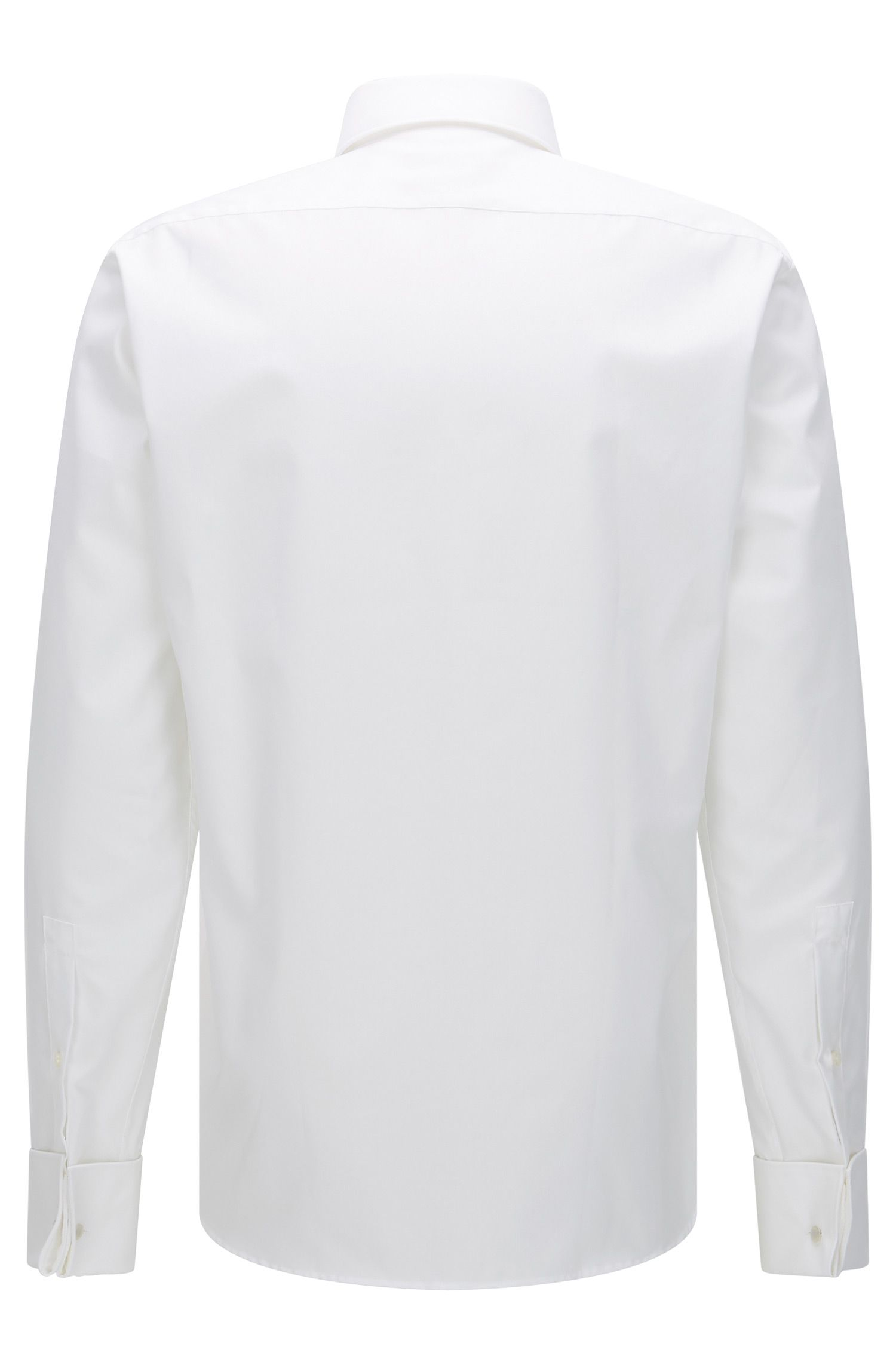 Regular-fit shirt in cotton poplin by HUGO Man, White