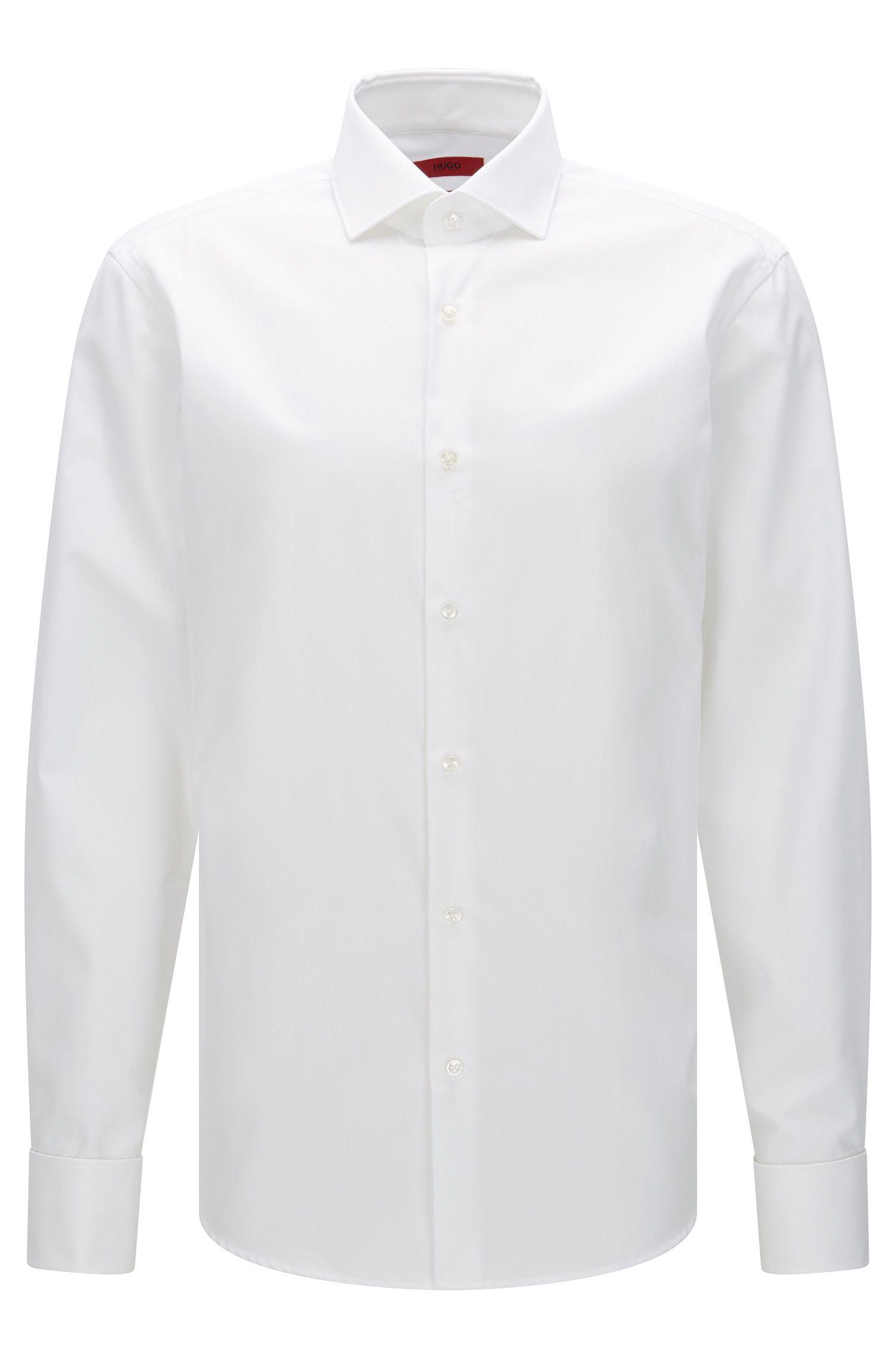 Regular-Fit Hemd aus Baumwoll-Popeline