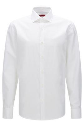 Camicia regular fit in popeline di cotone HUGO Uomo, Bianco