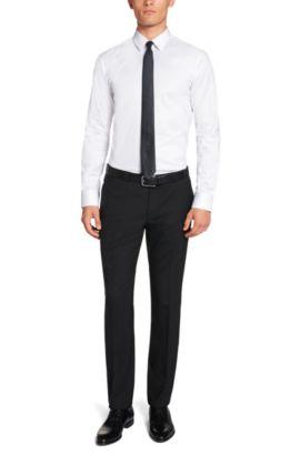 Slim-Fit Hemd aus Baumwolle: 'Elisha', Weiß