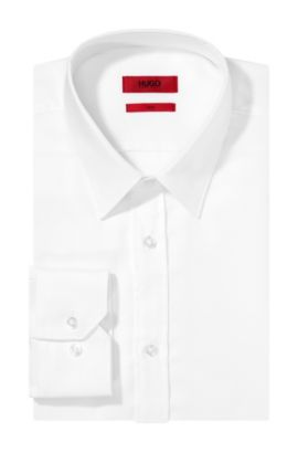 Slim-fit business shirt 'Elisha01' in easy-iron cotton , Open White