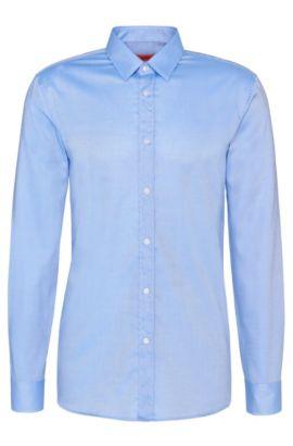 Chemise business Slim Fit «Elisha01» en coton facile à repasser , Bleu vif