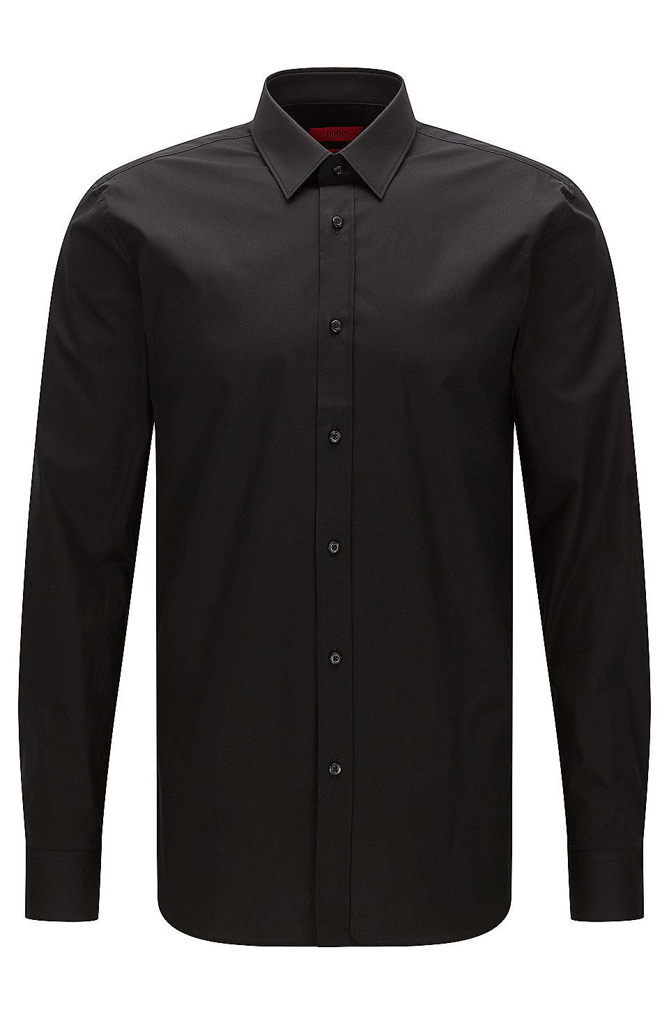 4f42e383399b HUGO - Extra-slim-fit shirt in stretch cotton