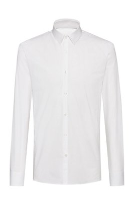 Extra slim-fit shirt in stretch cotton , White