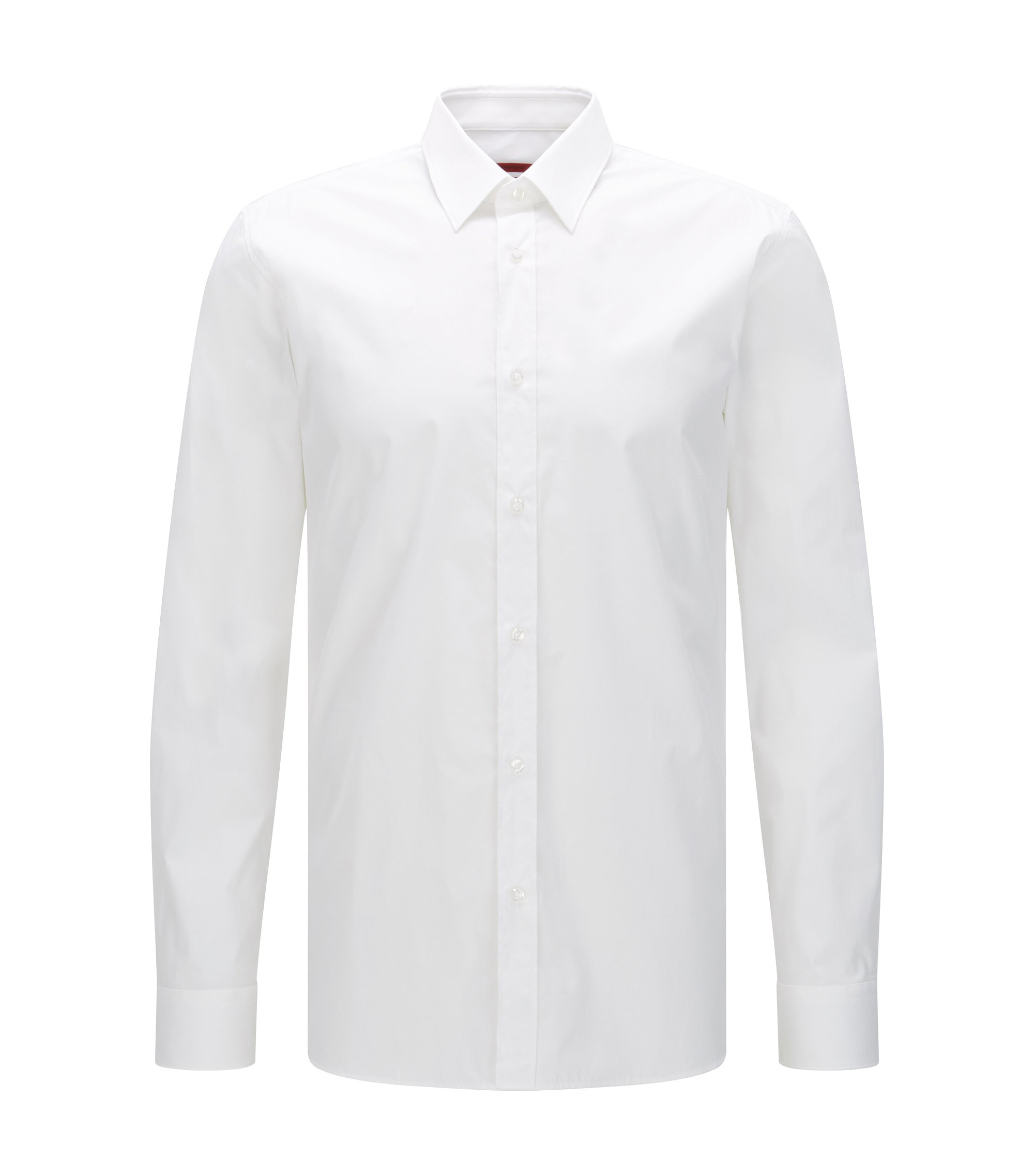 Extra-slim-fit shirt in stretch cotton , White