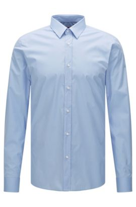 Extra-slim-fit shirt in stretch cotton , Light Blue