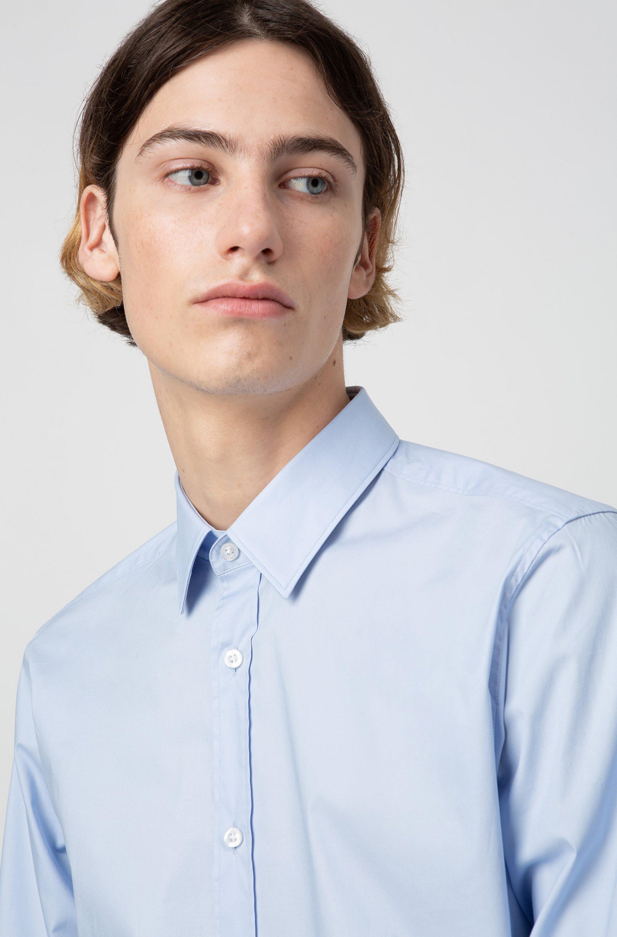 Camisa extra slim fit en algodón elástico